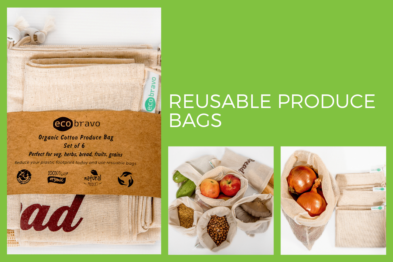 Eco Bravo Reusable Produce Bags