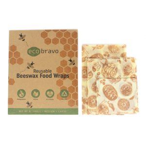 Reusable Beeswax Food Wraps – Set of 3