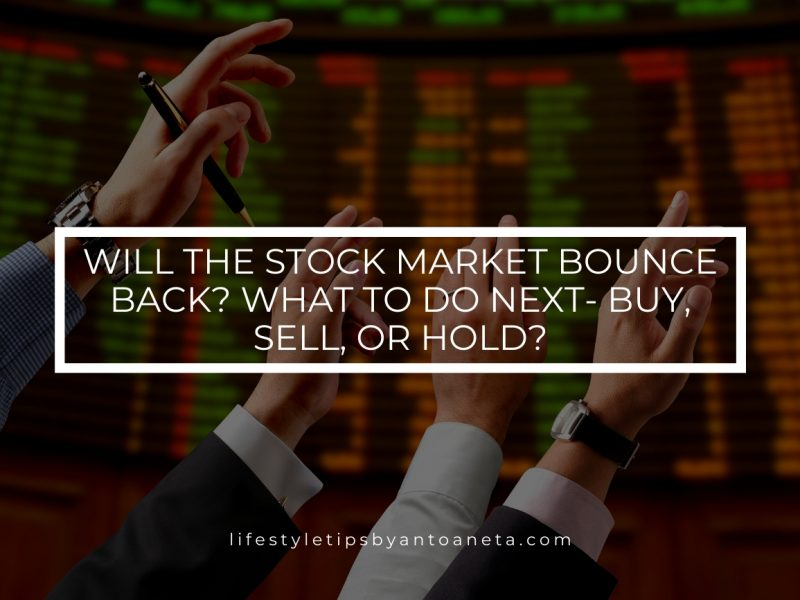 Will The Stock Market Bounce Back