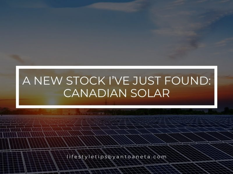 A New Stock I've Just Found Canadian Solar