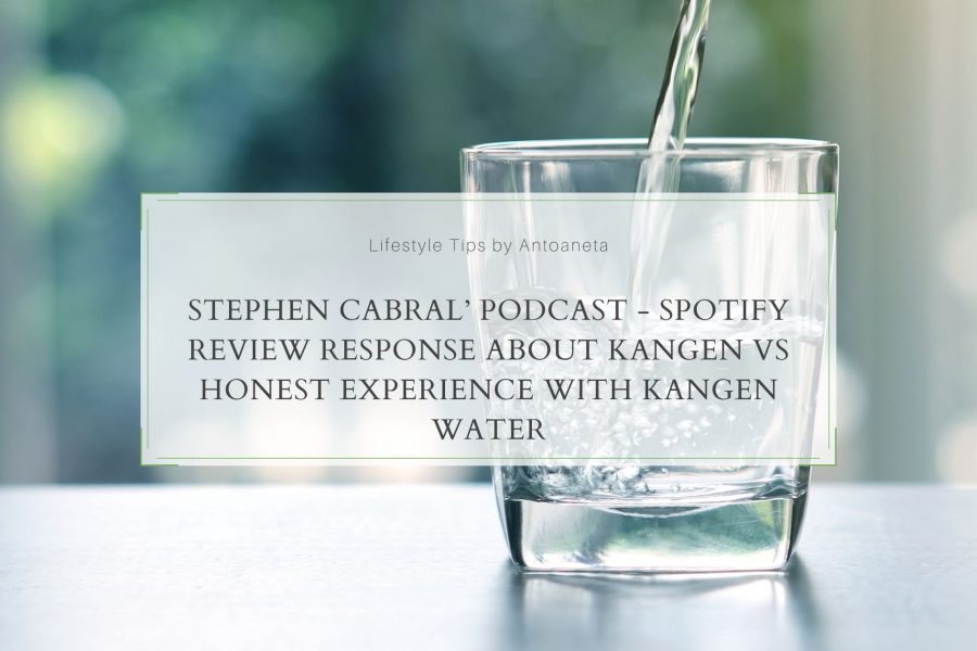 Stephen Cabral'Podcast – Spotify Review Response about Kangen Vs Honest Experience with Kangen Water
