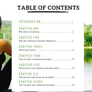 Table Of Contents Gallery Image Wellness Buisness Guide